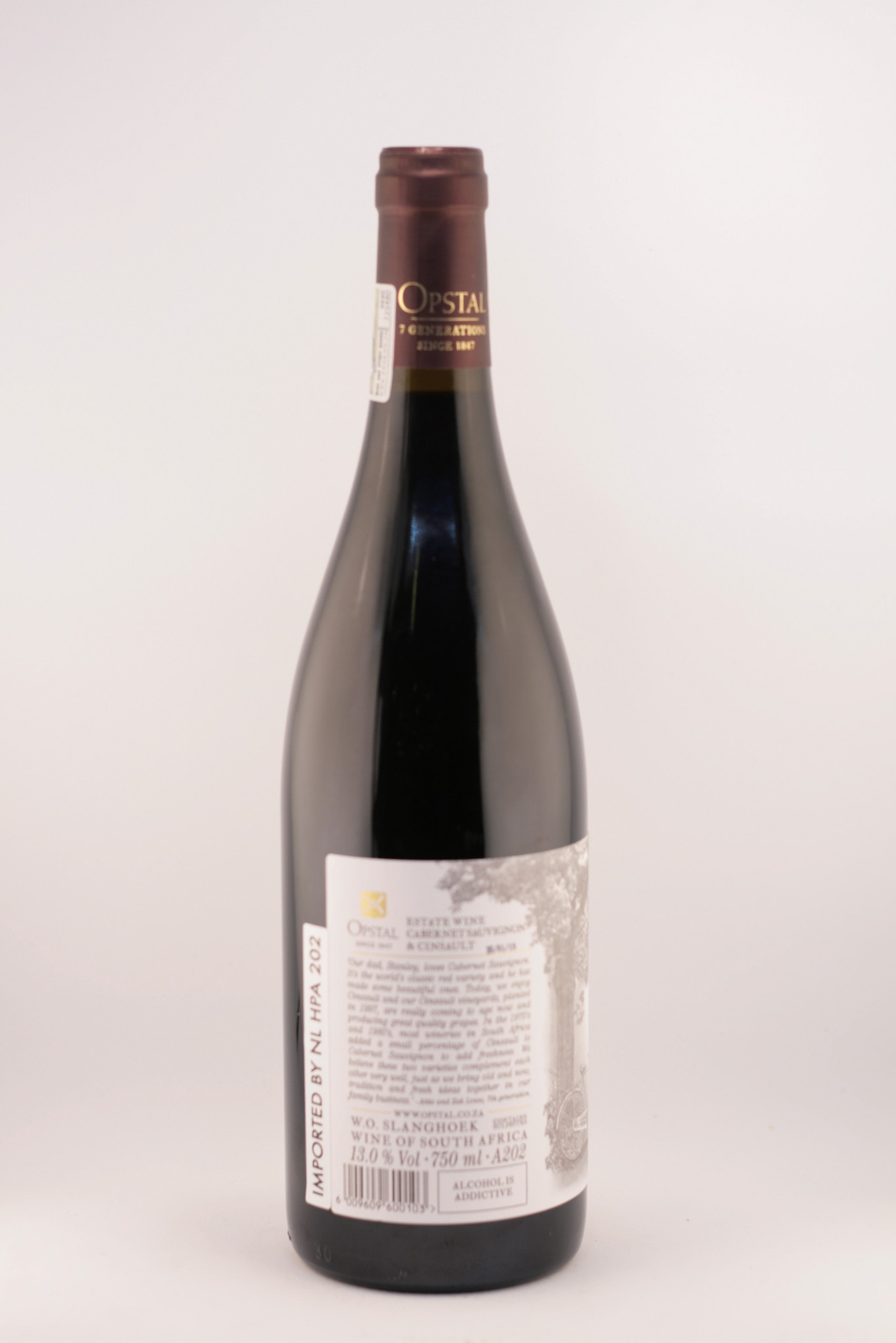 Estate wine |Opstal |Slanghoek |Cabernet sauvignon - Cincault | 2018