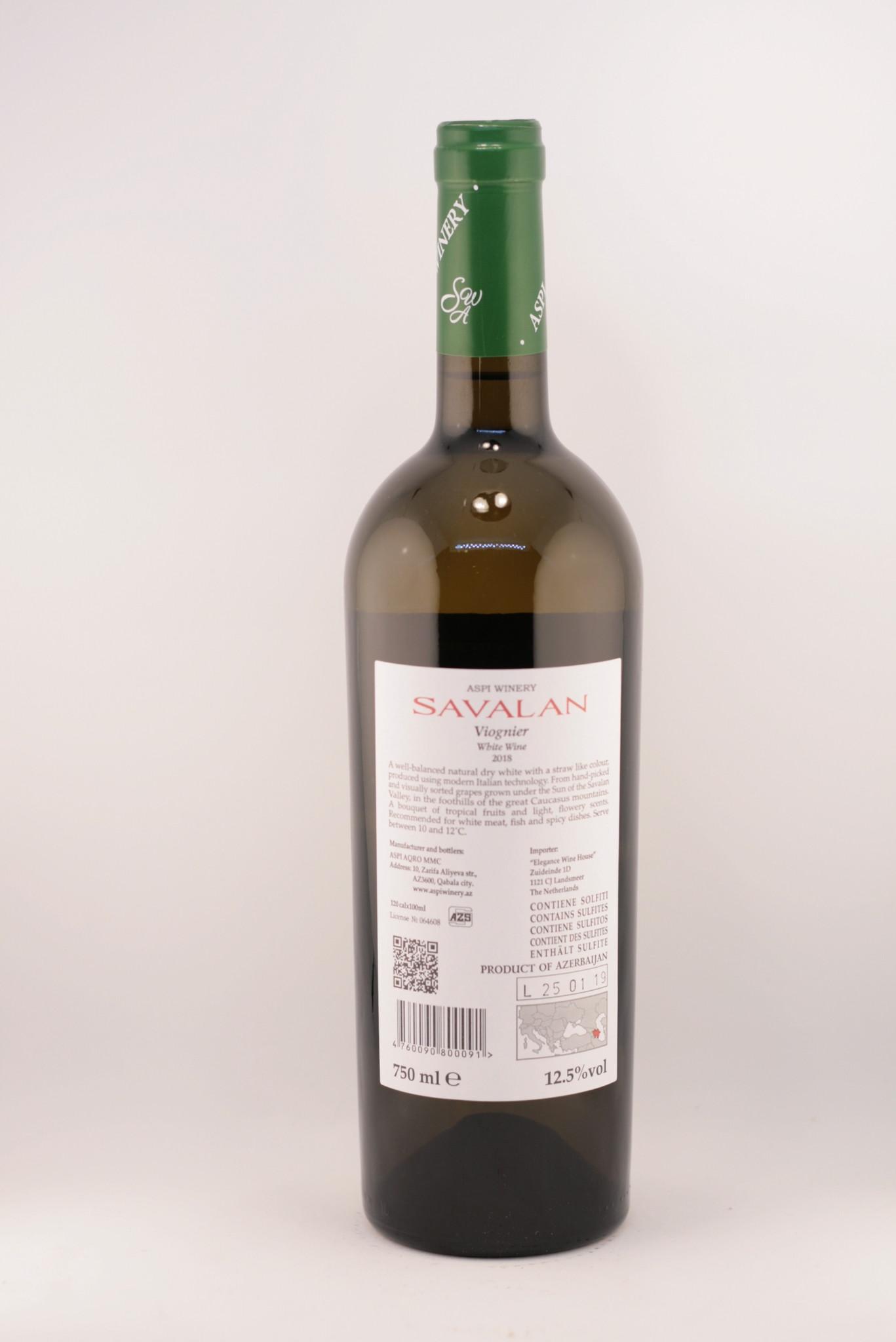 Savalan | Viognier | White dry | 2018