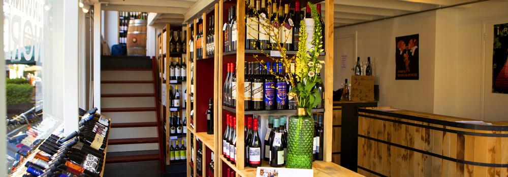 Wijnwinkel binnenkant