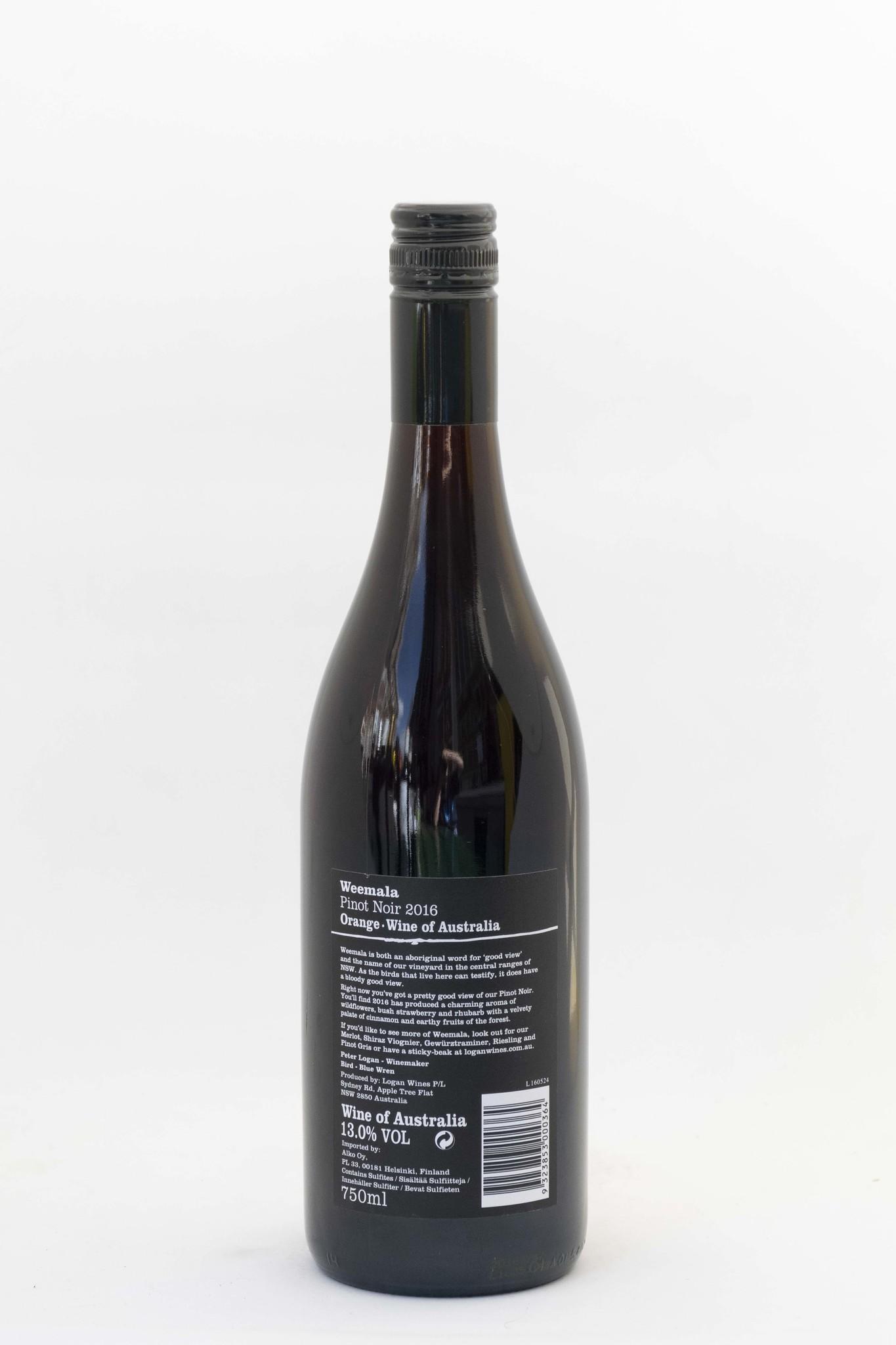 Blue Wren Weemala  Logan Wines  Pinot noir   2016