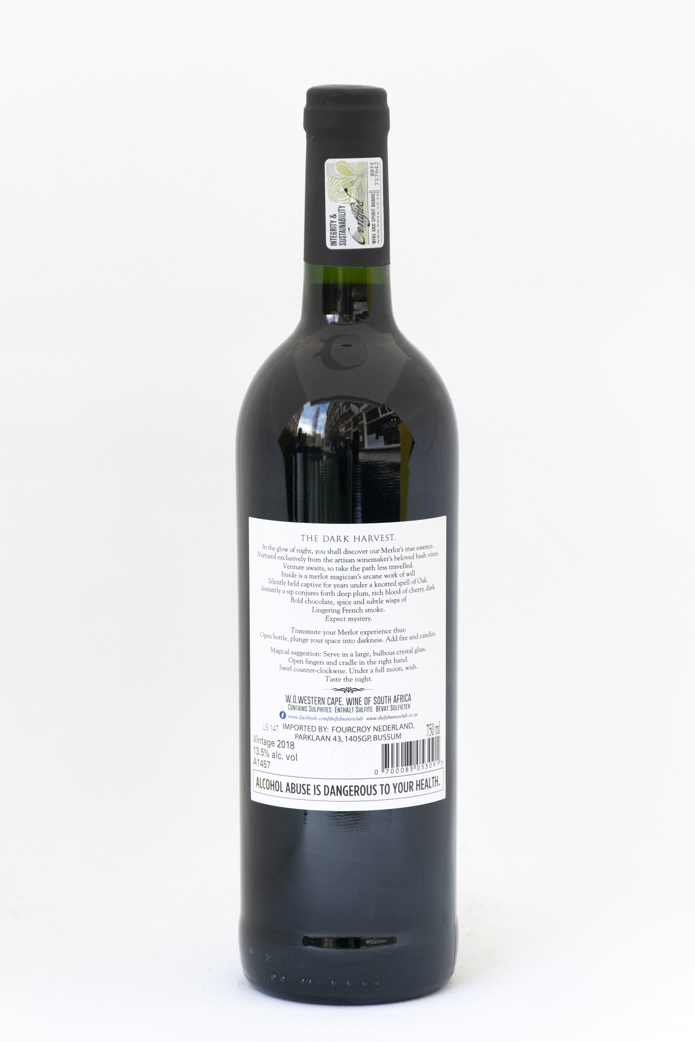 The Black Earth| The Fishwives club | Boutique Winery  | Stellenbosch |Merlot | 2018