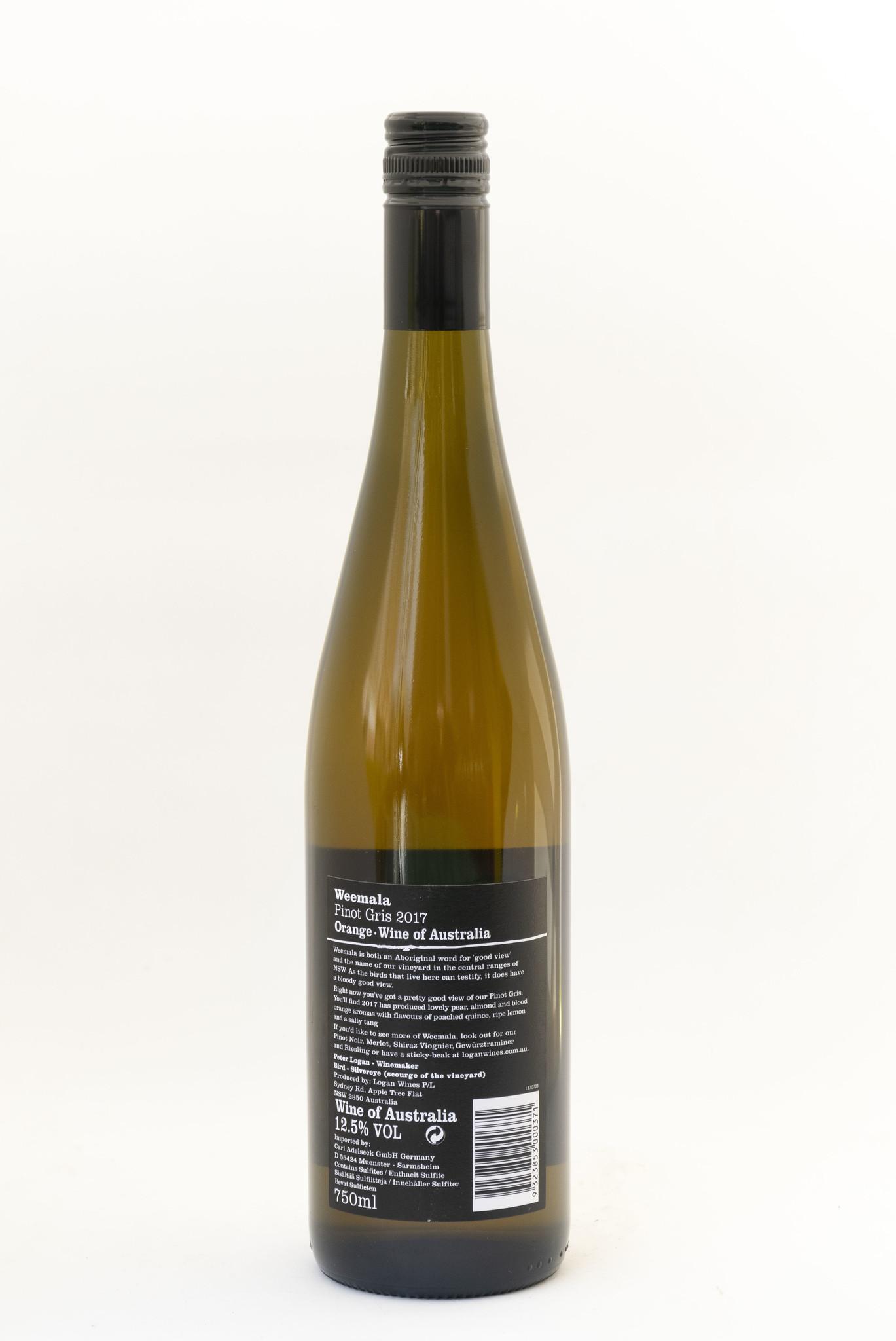 Silver EYE |Orange |Weemala |Logan Wines | Pinot gris