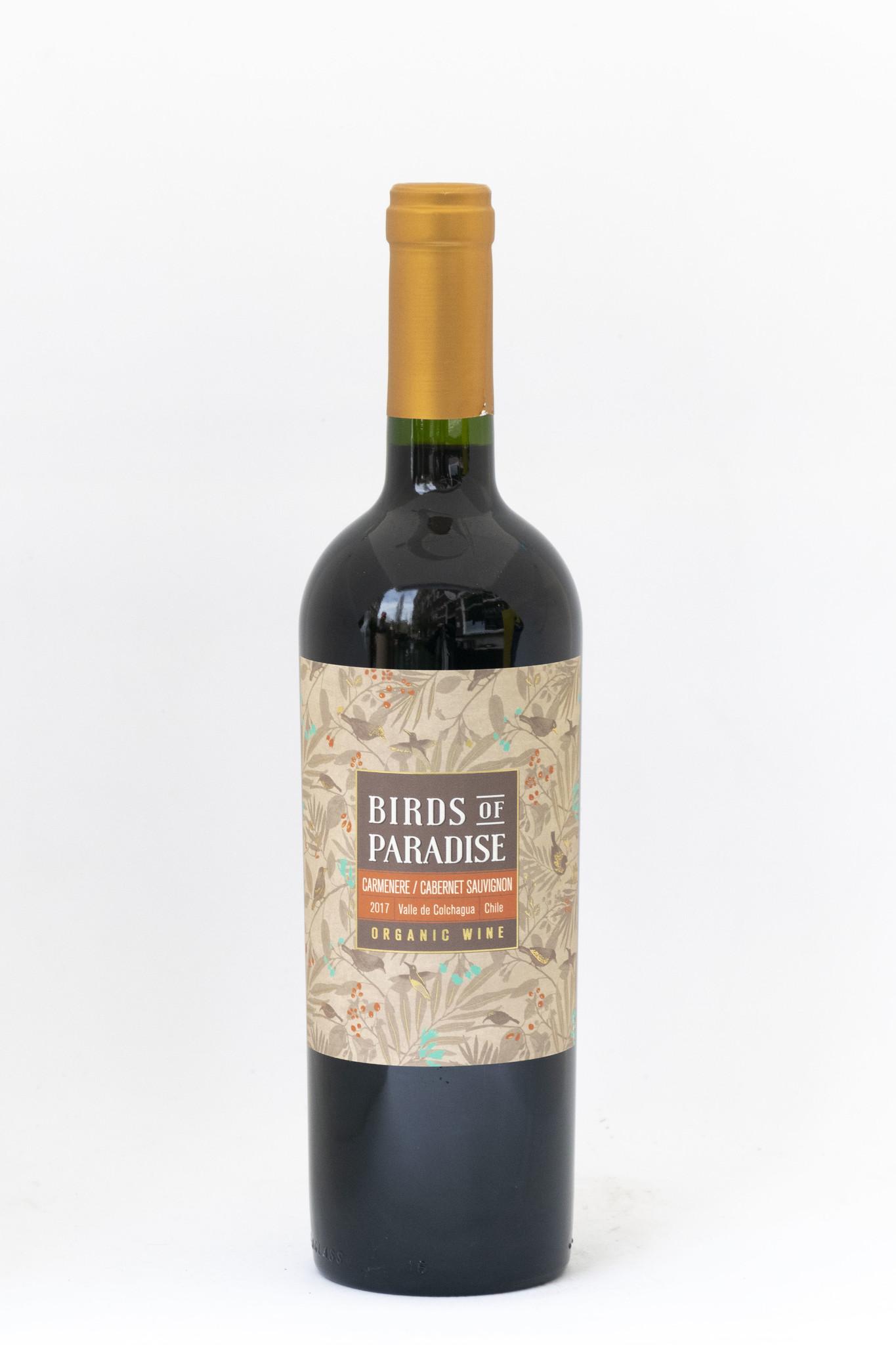 Birds of Paradise   Reserva Blend   Vinedos Emiliana   2016 Cabernet Sauvignon- Carmenere   Reserva
