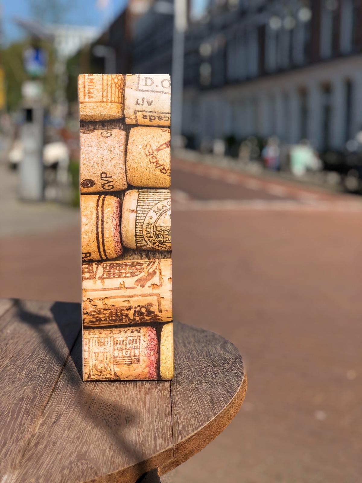 Cadeau verpakking | 1 fles  | kurkenprint