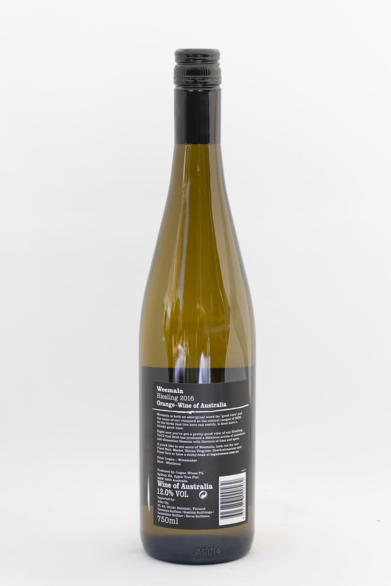 Logan Weemala Riesling | Logan wines |  New South Wales | Australië | 2016