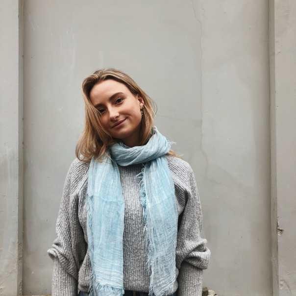Dunno sjaal blauw