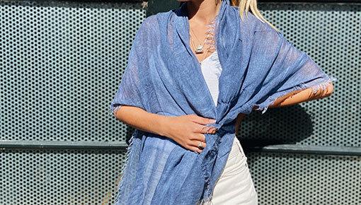 Plain scarves