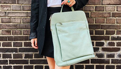 Handmade leather backpacks for women