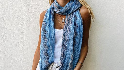 Sjaals met print
