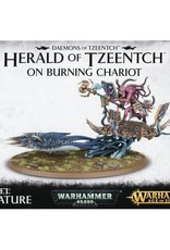Games Workshop Daemons Herald of Tzeench on Burning Chariot