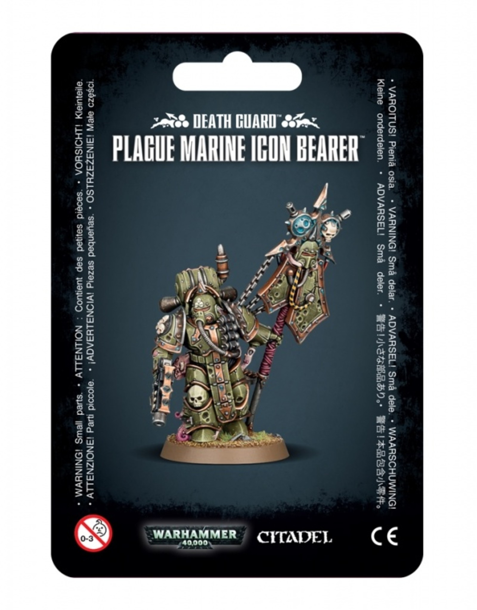 Games Workshop Death Guard Plague Marine Icon Bearer