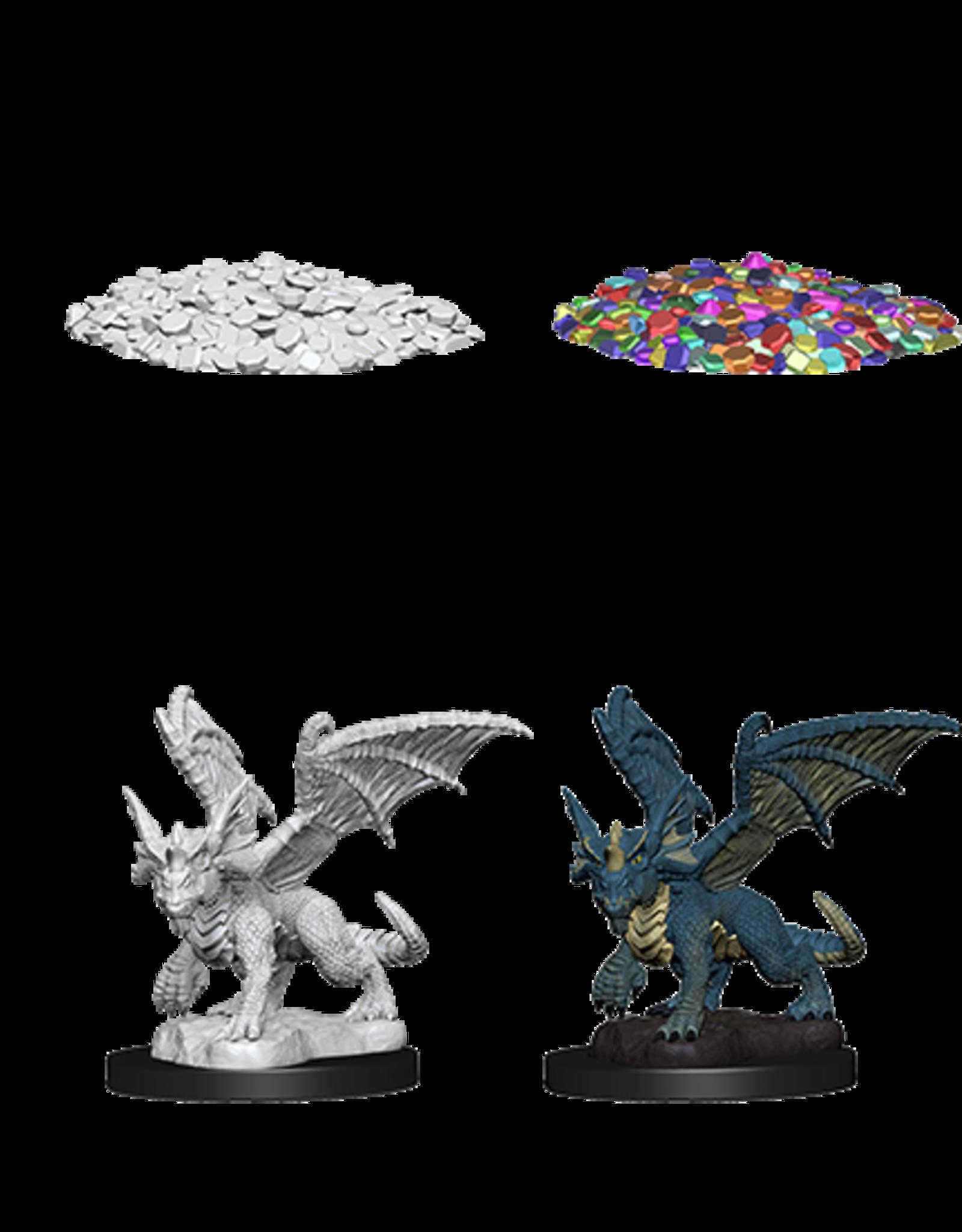 Wizkids D&D Nolzur's Marvelous Miniatures Blue Dragon Wyrmling