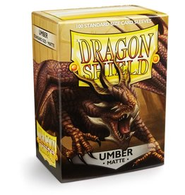 Dragonshield Dragonshield 100 Box Sleeves Matte Umber