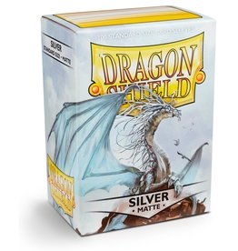 Dragonshield Dragonshield 100 Box Sleeves Matte Silver