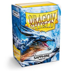 Dragonshield Dragonshield 100 Box Sleeves Matte Sapphire
