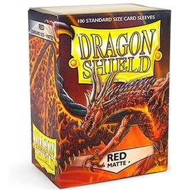 Dragonshield Dragonshield 100 Box Sleeves Matte Red