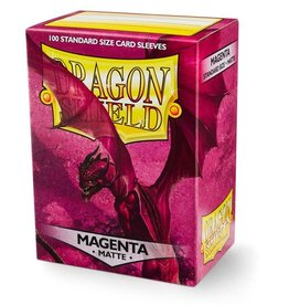 Dragonshield Dragonshield 100 Box Sleeves Matte Magenta