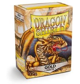 Dragonshield Dragonshield 100 Box Sleeves Matte Gold