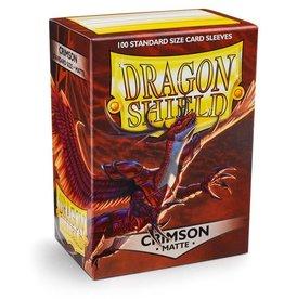 Dragonshield Dragonshield 100 Box Sleeves Matte Crimson