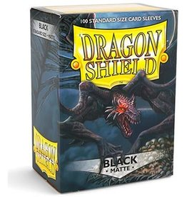 Dragonshield Dragonshield 100 Box Sleeves Matte Black
