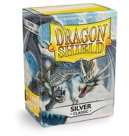 Dragonshield Dragonshield 100 Box Sleeves Classic Silver