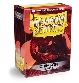 Dragonshield Dragonshield 100 Box Sleeves Classic Crimson