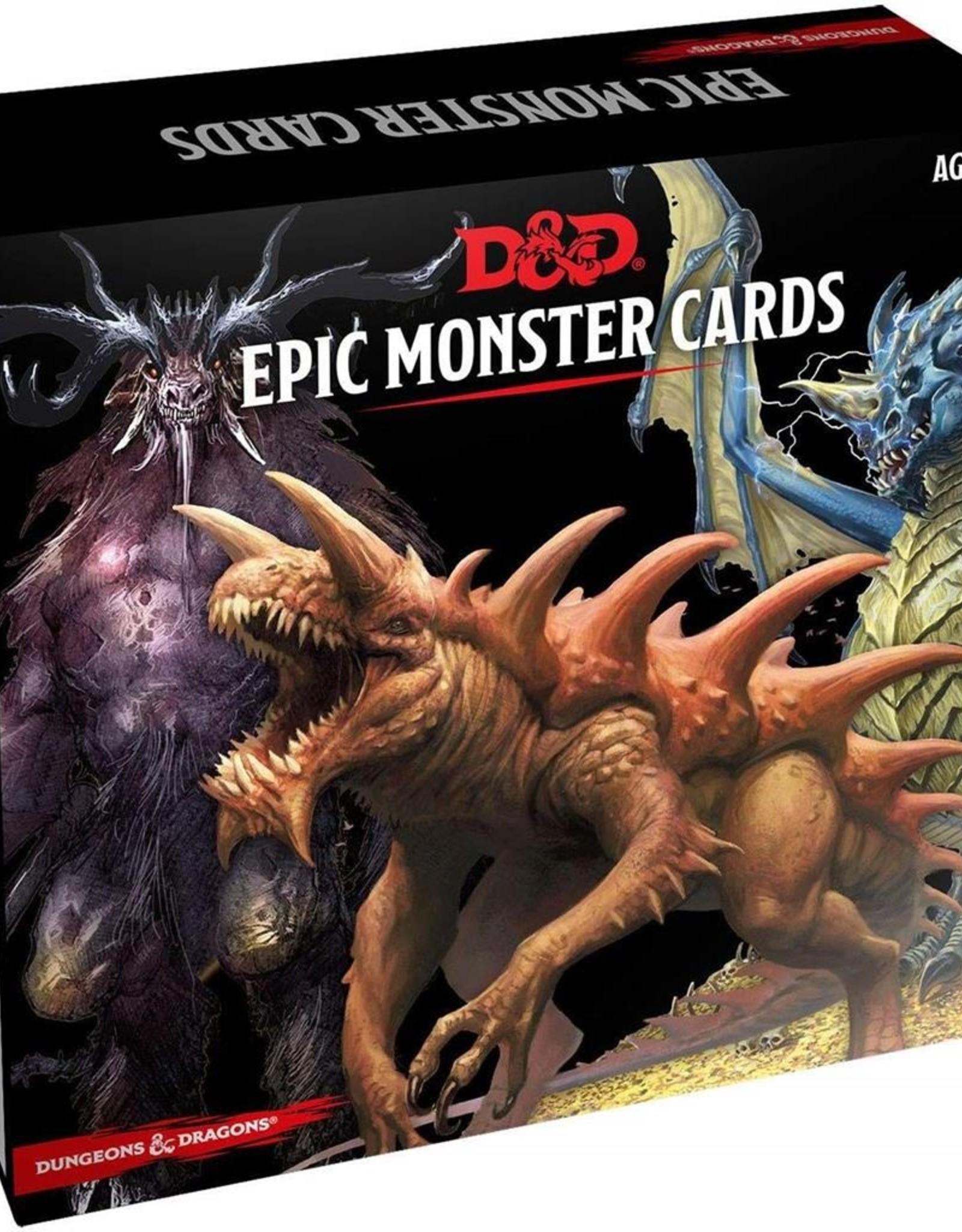 Gale Force Nine D&D 5th ed. Spellbook Cards Epic Monsters