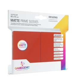 Gamegenic Gamegenic Matte Prime Sleeves Red (100)