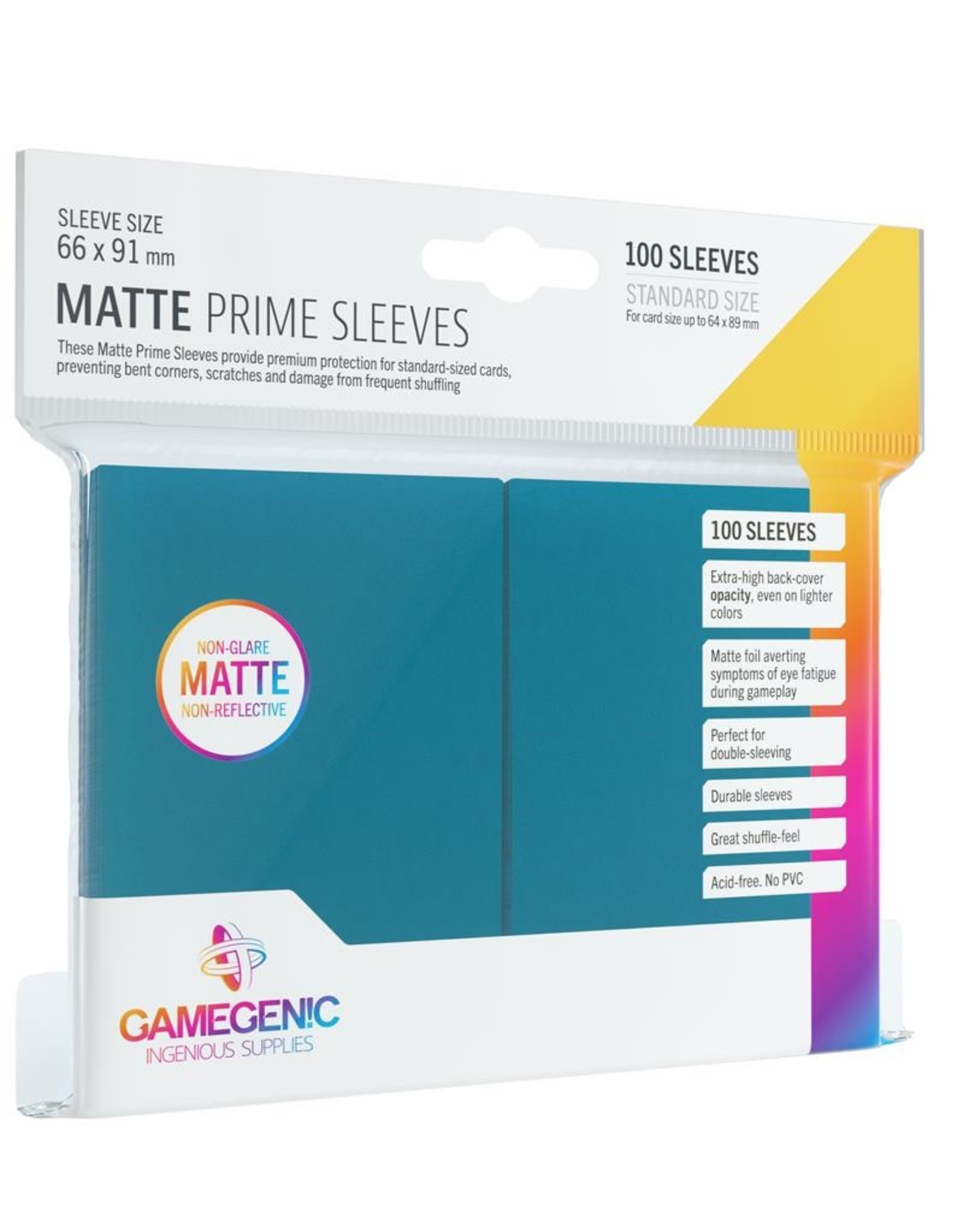 Gamegenic Gamegenic Matte Prime Sleeves Blue (100)
