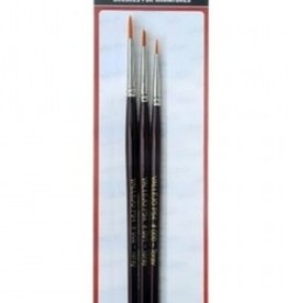Vallejo Brush Set - Synthetic Toray 4/0, 3/0, 2/0