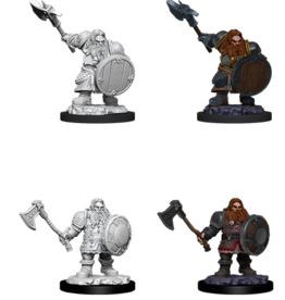 Wizkids D&D Nolzur's Marvelous Miniatures Dwarf Fighter Male