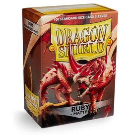 Dragonshield Dragonshield 100 Box Sleeves Matte Ruby