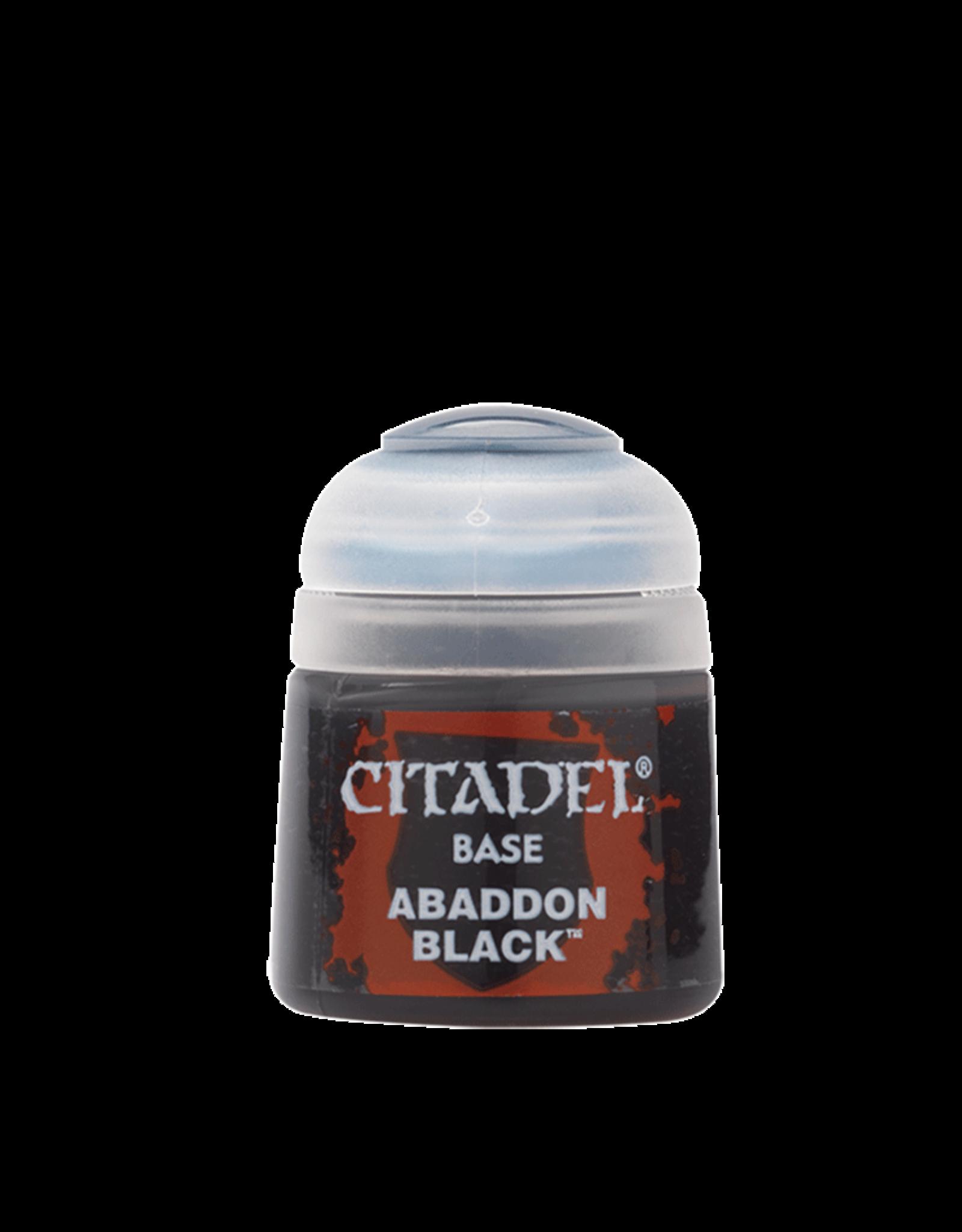 Games Workshop Citadel Base: Abaddon Black