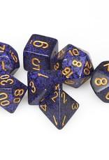 Chessex Chessex 7-Die set Speckled - Golden Cobalt