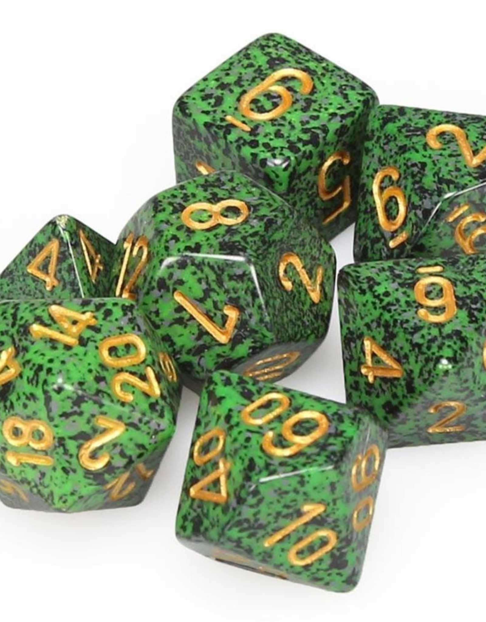 Chessex Chessex 7-Die set Speckled - Golden Recon