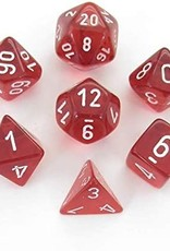 Chessex Chessex 7-Die set Translucent - Red/White