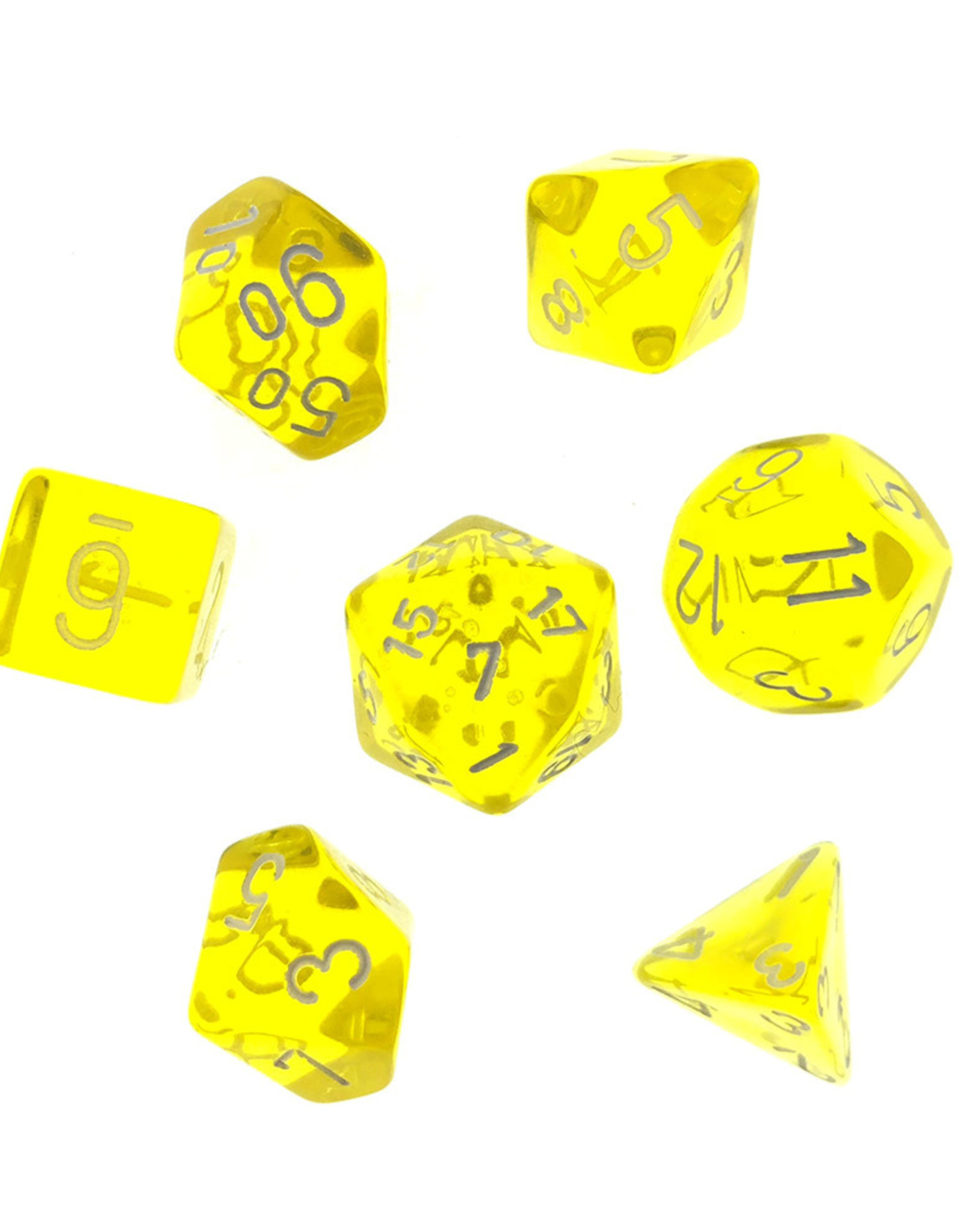 Chessex Chessex 7-Die set Translucent - Yellow/White