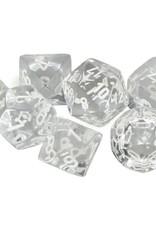 Chessex Chessex 7-Die set Translucent - Clear/White