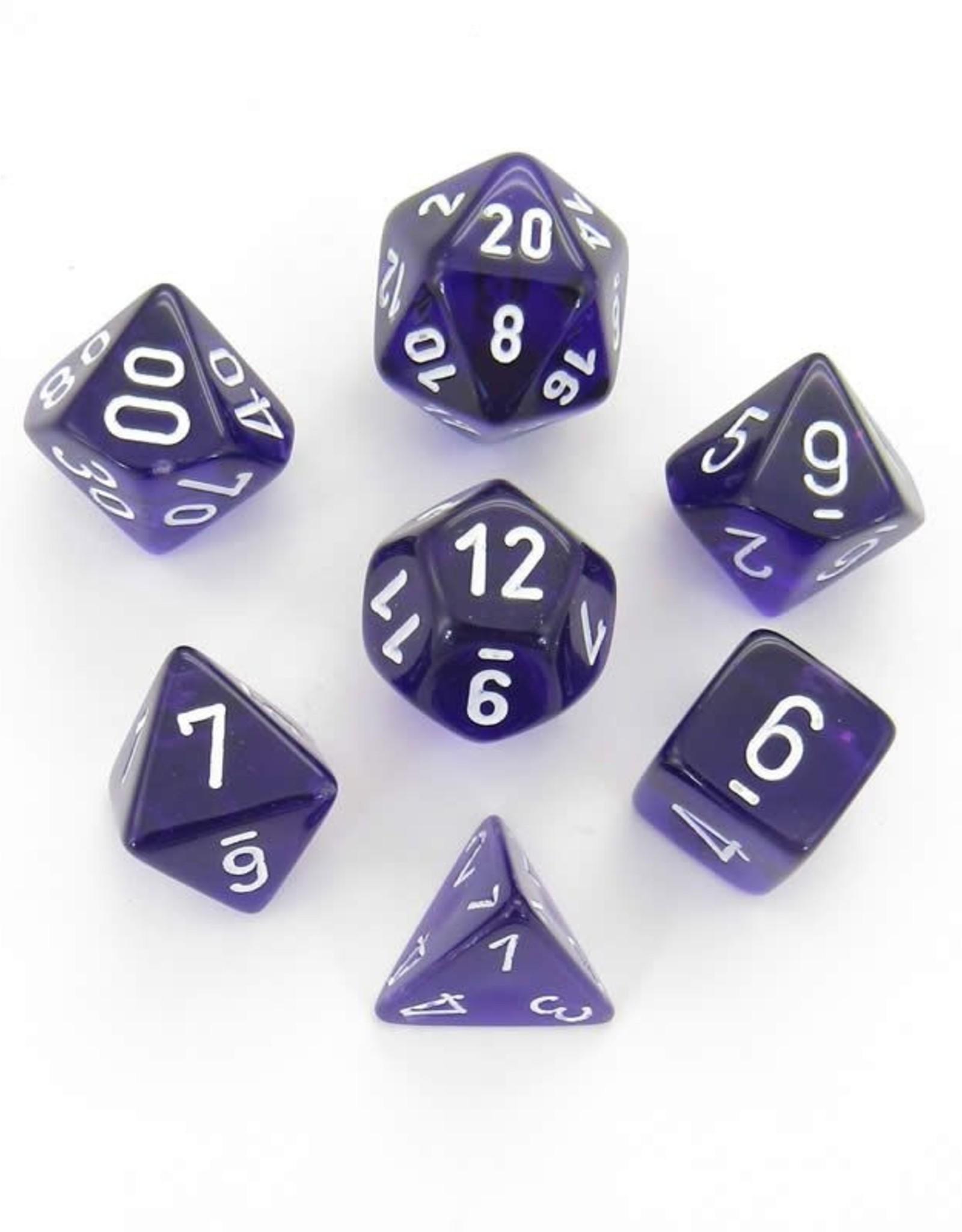 Chessex Chessex 7-Die set Translucent - Purple/White