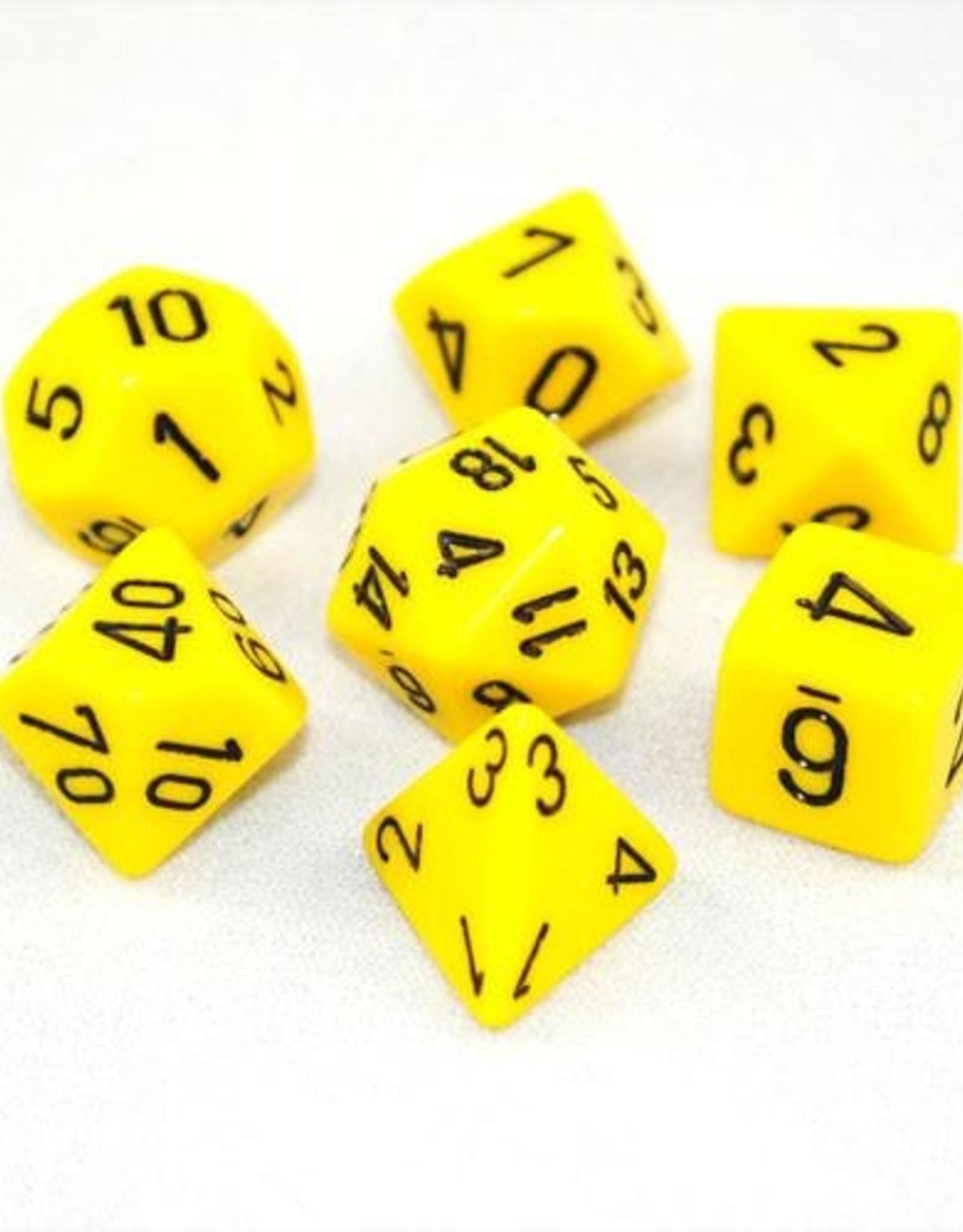 Chessex Chessex 7-Die set Opaque - Yellow/Black