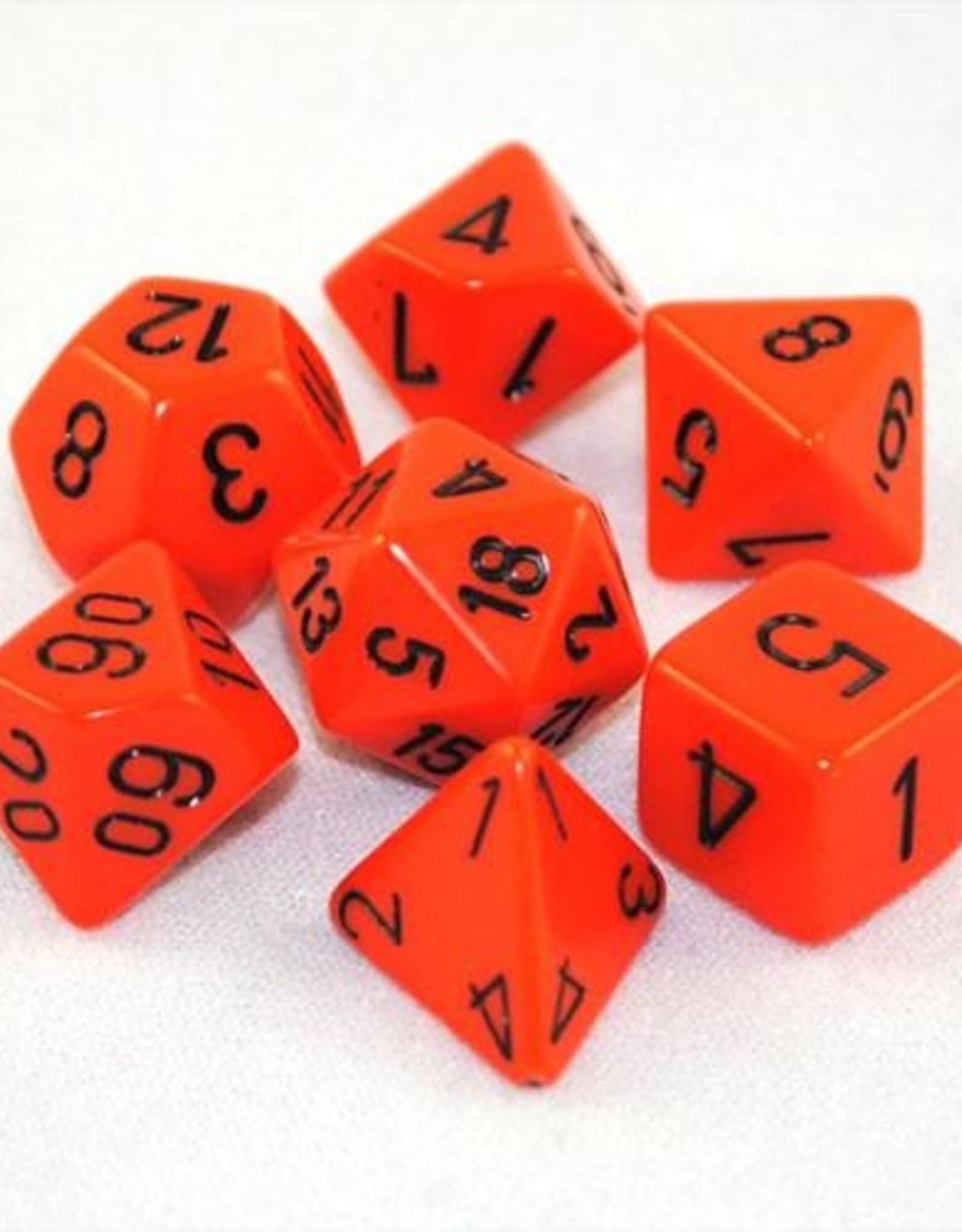 Chessex Chessex 7-Die set Opaque - Orange/Black