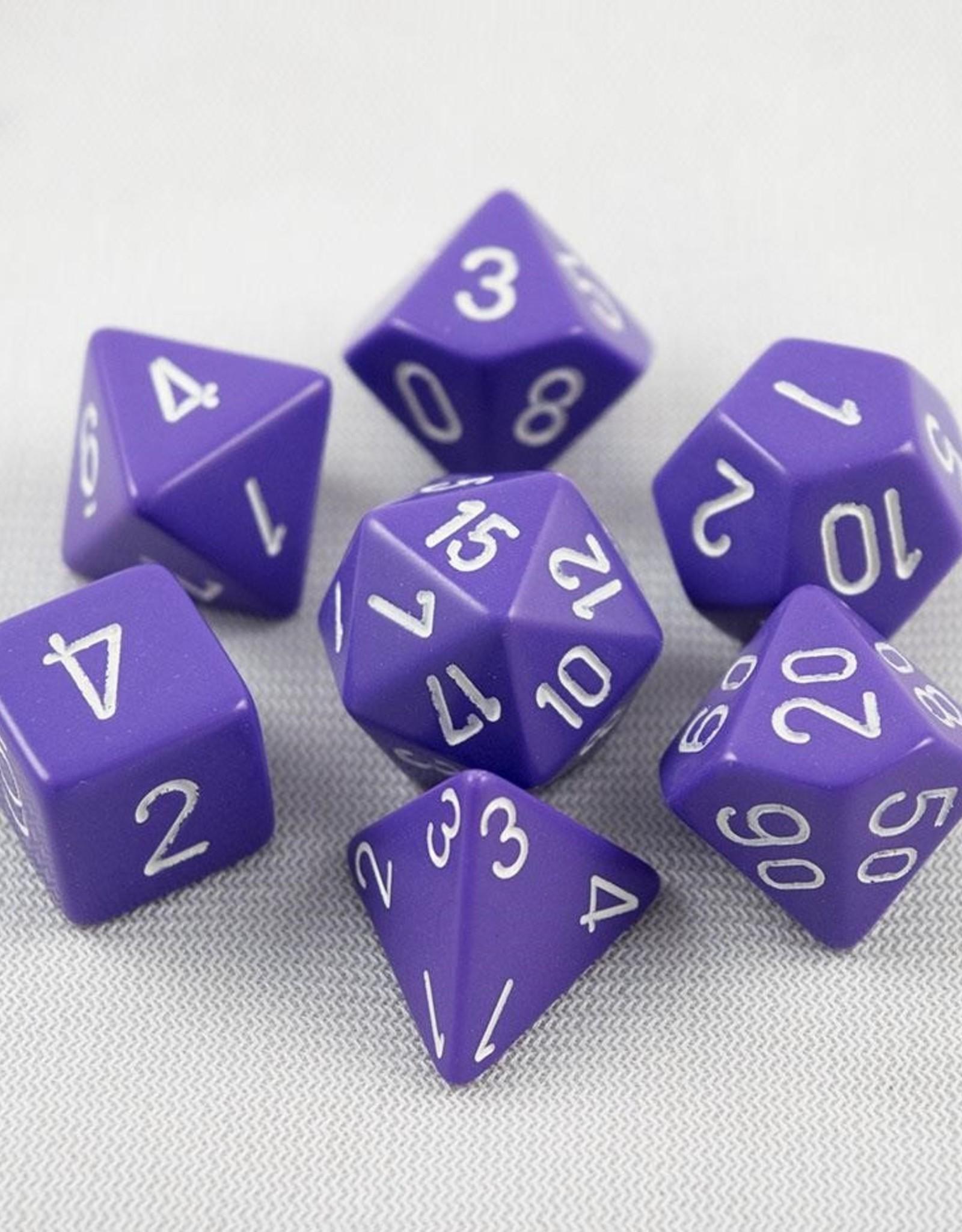 Chessex Chessex 7-Die set Opaque - Purple/White