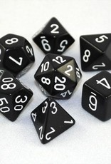 Chessex Chessex 7-Die set Opaque - Black/White