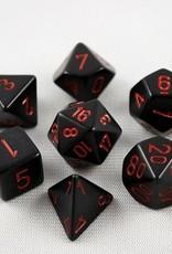 Chessex Chessex 7-Die set Opaque - Black/Red
