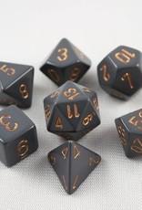 Chessex Chessex 7-Die set Opaque - Dark Grey/Copper