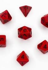 Chessex Chessex 7-Die set Opaque - Red/Black
