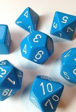 Chessex Chessex 7-Die set Opaque - Light Blue/White