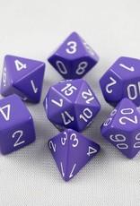 Chessex Chessex 7-Die set Opaque - Light Purple/White