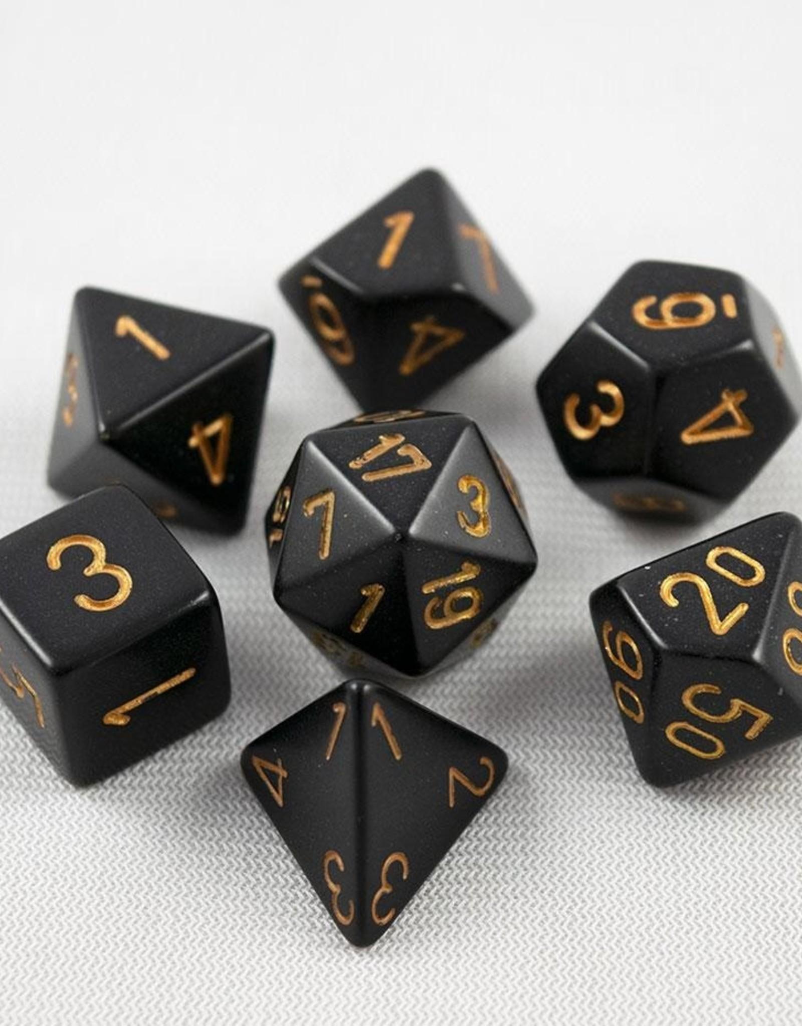 Chessex Chessex 7-Die set Opaque - Black/Gold