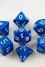 Chessex Chessex 7-Die set Opaque - Blue/White